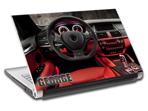BMW Interior Luxury Car Personalized LAPTOP Skin Vinyl Decal L708