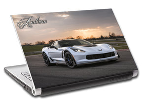 Luxury Car Personalized LAPTOP Skin Vinyl Decal L711
