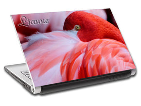 Red Flamingo Personalized LAPTOP Skin Vinyl Decal L715