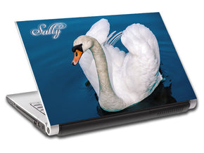 Swan Personalized LAPTOP Skin Vinyl Decal L716