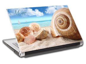 Seashells On Beach Personalized LAPTOP Skin Vinyl Decal L720