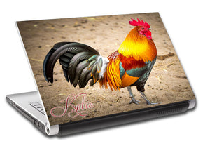 Rooster Personalized LAPTOP Skin Vinyl Decal L724
