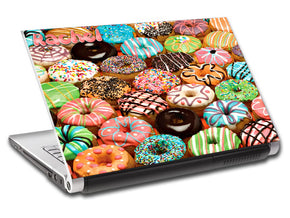 Donuts Personalized LAPTOP Skin Vinyl Decal L760