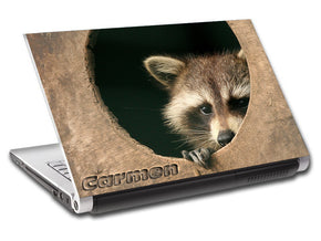 Raccoon Personalized LAPTOP Skin Vinyl Decal L761