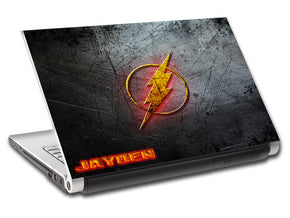 Le Logo Flash Super Heroes Personnalisé LAPTOP Skin Vinyl Decal L776