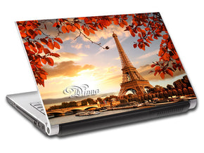 Autumn In Paris Eiffel Tower Personalized LAPTOP Skin Vinyl Decal L795