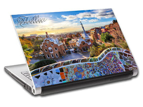 Barcelona Cityscape Skyline Personalized LAPTOP Skin Vinyl Decal L796