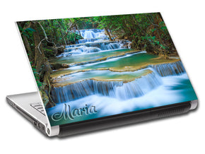 Exotic Forest Waterfall Nature Personalized LAPTOP Skin Vinyl Decal L799