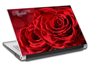 Red Roses Flowers Personalized LAPTOP Skin Vinyl Decal L807