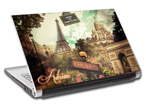 Paris Collage Eiffel Tower Personalized LAPTOP Skin Vinyl Decal L817