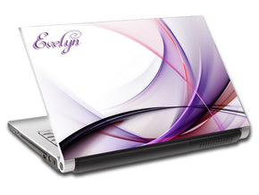 Abstract Waves Personalized LAPTOP Skin Vinyl Decal L88