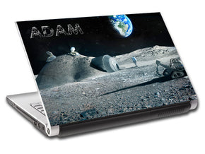 Astronaut Moon Personalized LAPTOP Skin Vinyl Decal L89