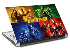 The Avengers Endgame Personalized LAPTOP Skin Vinyl Decal L910