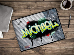 Graffiti On Iron Curtain Personalized LAPTOP Skin Vinyl Decal L922