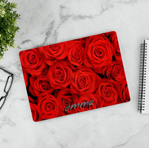 Red Roses Personalized LAPTOP Skin Vinyl Decal L925