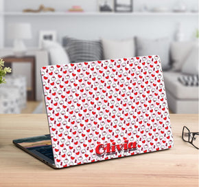 Cat Personalized LAPTOP Skin Vinyl Decal L929