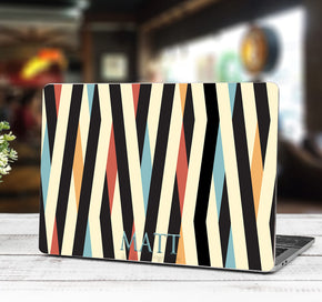 COLORED STRIPES Personalized LAPTOP Skin Vinyl Decal L936