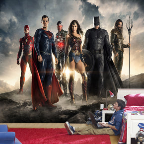 Super Heros Woven Self-Adhesive Removable Wallpaper Modern Mural M105