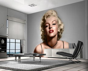 Marilyn Monroe Woven Self-Adhesive Removable Wallpaper Modern Mural M108