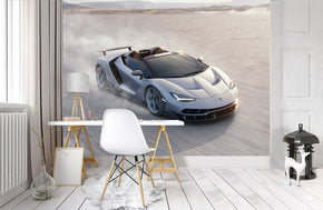 Sports Car Woven Self-Adhesive Removable Wallpaper Modern Mural M111
