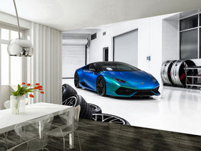 Sports Car Woven Self-Adhesive Removable Wallpaper Modern Mural M112