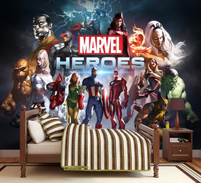 Marvel Superheroes Woven Self-Adhesive Removable Wallpaper Modern Mural M125