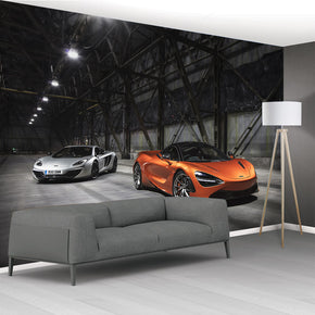 Racing Car Woven Self-Adhesive Removable Wallpaper Modern Mural M130