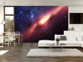 Nebula Space Galaxy Woven Self-Adhesive Removable Wallpaper Modern Mural M13