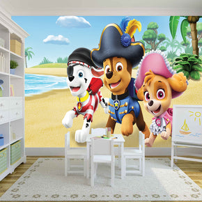 Paw Patrol Woven Self-Adhesive Removable Wallpaper Modern Mural M157