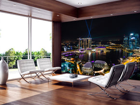 Singapore Cityscape Woven Self-Adhesive Removable Wallpaper Modern Mural M170
