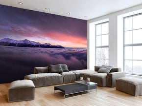 Sunset Panorama Woven Self-Adhesive Removable Wallpaper Modern Mural M175