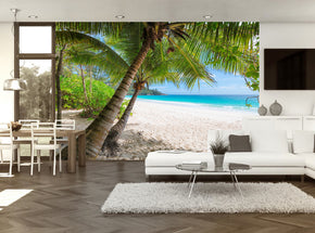 Tropical Exotic Beach Woven Self-Adhesive Removable Wallpaper Modern Mural M178