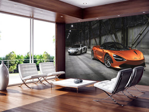 Sports Car Woven Self-Adhesive Removable Wallpaper Modern Mural M187