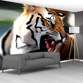 Tiger Woven Self-Adhesive Removable Wallpaper Modern Mural M191