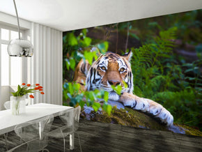 Tiger Woven Self-Adhesive Removable Wallpaper Modern Mural M192