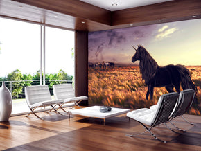 Unicorn Fantasy Woven Self-Adhesive Removable Wallpaper Modern Mural M200