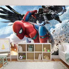 Super Heroes Woven Self-Adhesive Removable Wallpaper Modern Mural M202