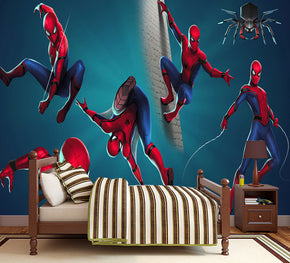 Spider-Man Super Hero Woven Self-Adhesive Removable Wallpaper Modern Mural M203