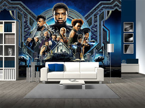 Black Panther Super Hero Woven Self-Adhesive Removable Wallpaper Modern Mural M211