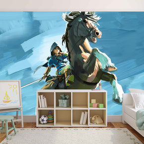 Video Game Characters Woven Self-Adhesive Removable Wallpaper Modern Mural M224