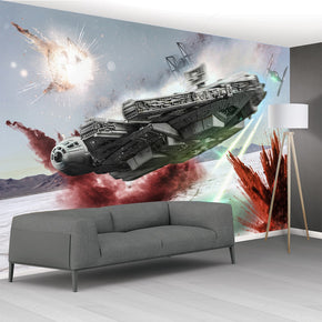 Millennium Falcon Star Wars Self-Adhesive Removable Wallpaper Modern Mural M236