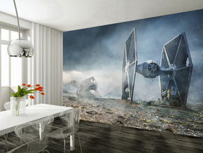 Star Wars Battle Ships Woven Self-Adhesive Removable Wallpaper Modern Mural M242