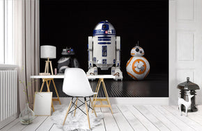 Star Wars Droids Woven Self-Adhesive Removable Wallpaper Modern Mural M244