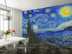 Van Gogh The Starry Night Woven Self-Adhesive Removable Wallpaper Modern Mural M247