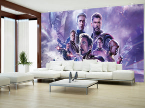 Super Heroes Woven Self-Adhesive Removable Wallpaper Modern Mural M258