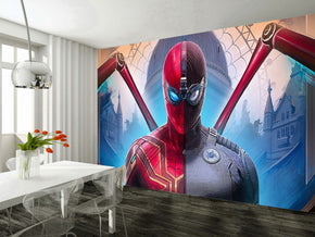 Super Heroes Woven Self-Adhesive Removable Wallpaper Modern Mural M262