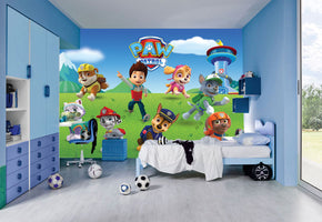 PAW PATROL Woven Self-Adhesive Removable Wallpaper Mural M273