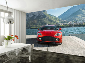 Sports Cars Woven Self-Adhesive Removable Wallpaper Modern Mural M35