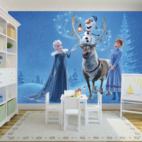Frozen Woven Self-Adhesive Removable Wallpaper Modern Mural M59