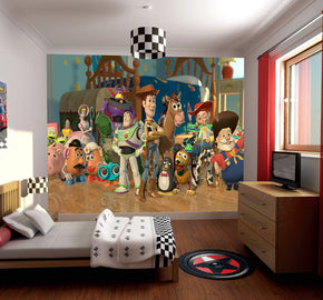 Toy Story Woven Self-Adhesive Removable Wallpaper Modern Mural M60
